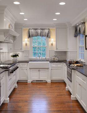 White Beadboard Ceiling Kitchen