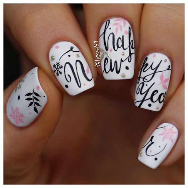 Websta Lieve91 And My Last Post Of The Year Wishing You All Happy New Year May It Bring You Lots New Years Nail Designs New Year S Nails Christmas Nails