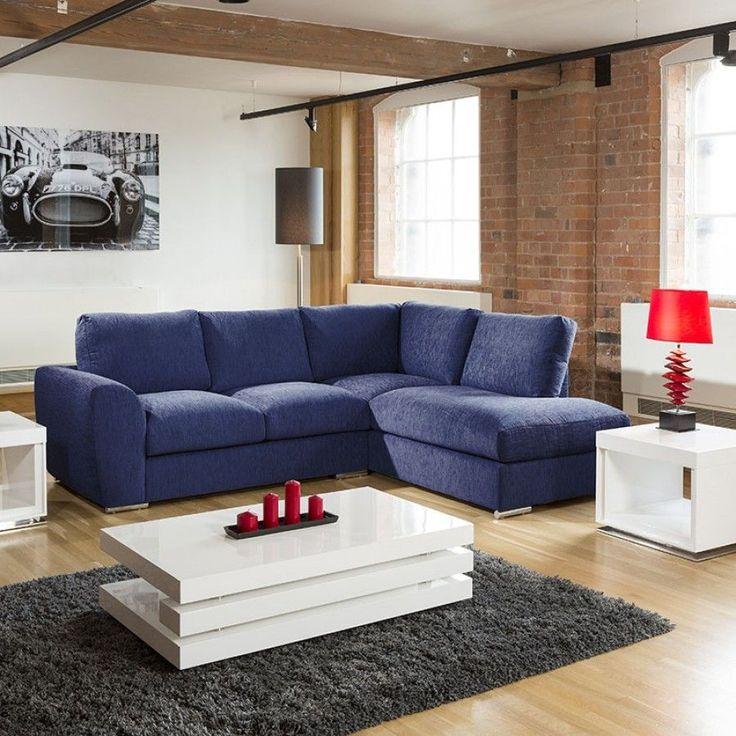 Best Modern L Shape Sofa Set Settee Corner Group 265X210Cm Blue 400 x 300