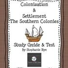 Use this study guide and test to assess your students' knowledge about the Southern Colonies.  $