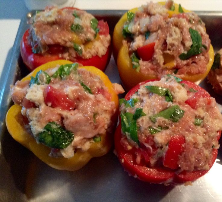peppers!Ground turkey mixed with turkey sausage, spinach, onion, red ...