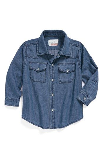 Sovereign Code 'Essenaal' Chambray Western Shirt (Baby Boys) available at #Nordstrom
