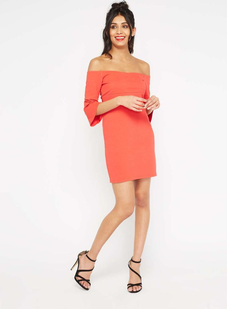 PETITE Flute Sleeve Dress - View All - Sale & Offers - Miss Selfridge US