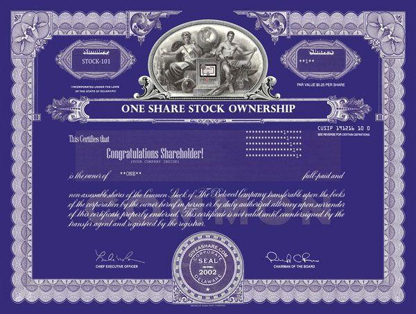 Gift Atlanta Liberty Braves Stock Real Ownership Stock