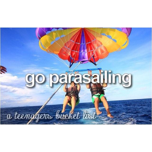 Parasailing #bucketlist