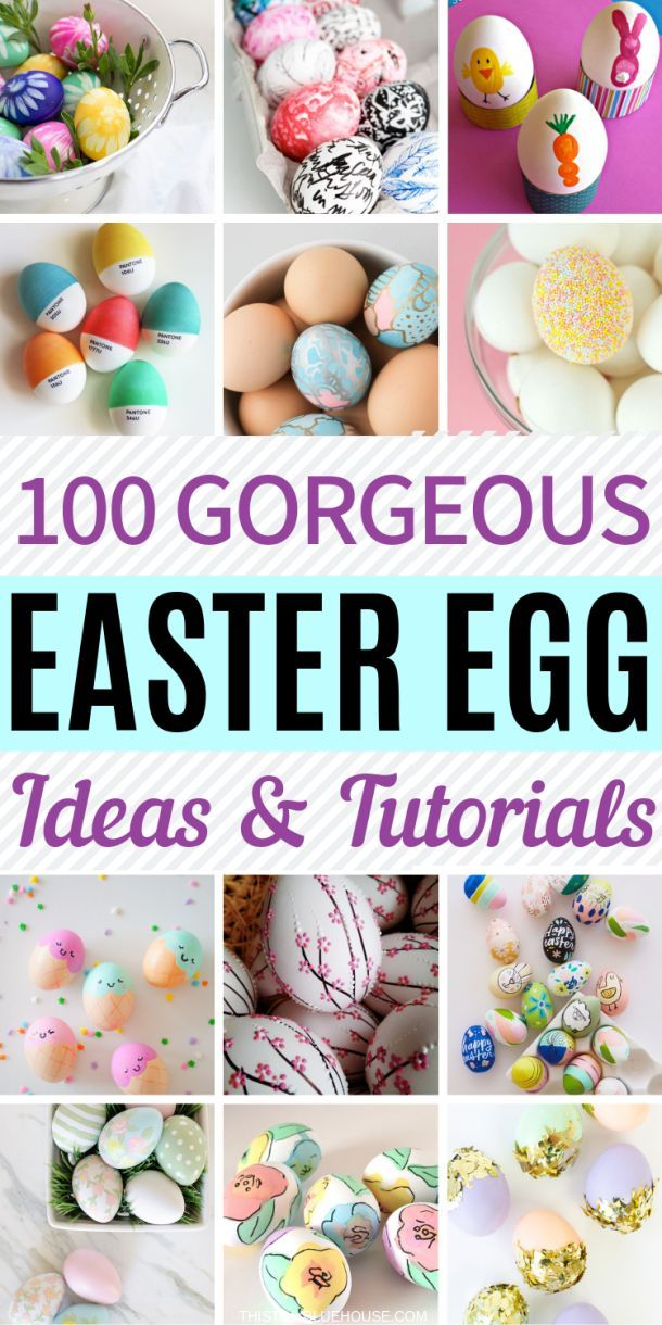9 Best Creative Painted Easter Egg Tutorials  Easter eggs