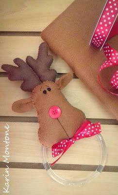 christmas felt, felt, feltro, molde, natal, navidad fieltro, navideñas, reindeer, Rena, Rudolph feltro