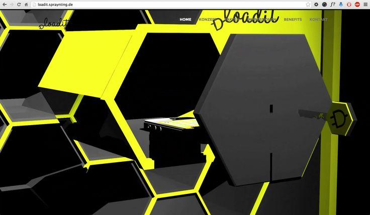 Loadit – smartphone loading station für Einkaufszentren Webprojekt der HNU