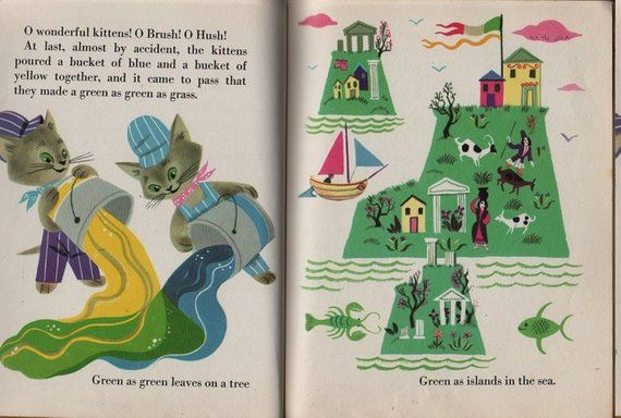 The Color Kittens A Little Golden Book Written By Margaret Wise Brown Illustrated By Alica And Martin Little Golden Books Margaret Wise Brown Kittens Cutest
