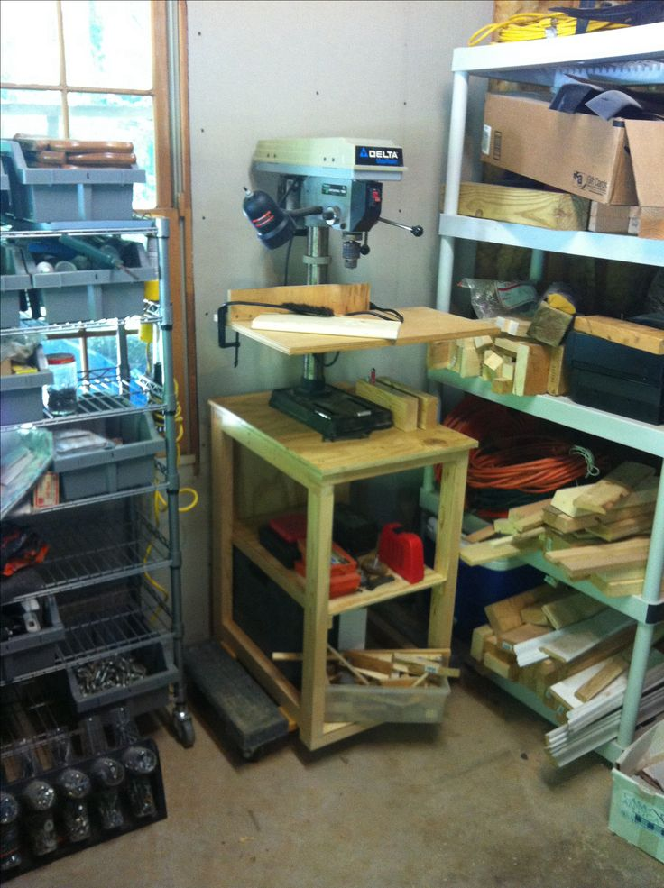 Free Drill Press Stand Plans Woodworking Projects Amp Plans