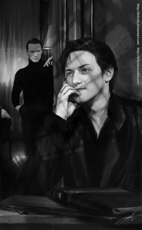 Xmen: We want the same thing by =brilcrist on deviantART (Charles Xavier / Erik Lehnsherr, Cherik, James McAvoy, Michael Fassbender, X Men First Class Fanart, XMFC Fanart)