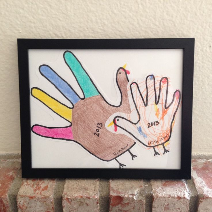 Pinterest Projects - Handprint Turkeys 4