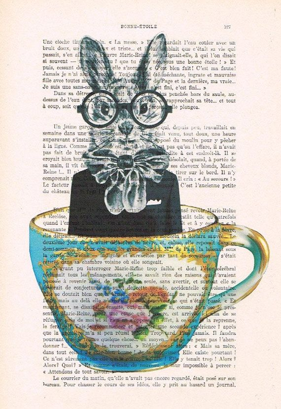 Rabbit+in+Cup+Mixed+Media++Digital+Illustration+by+Cocodeparis,+$10.00: