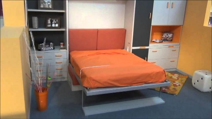 Ideas para decorar un dormitorio con sofa cama abatible for Sofa cama para habitacion juvenil