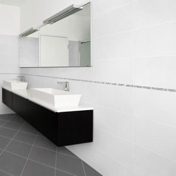 Carrelage int rieur universo en gr s c rame blanc 30 x for 8x4 bathroom design
