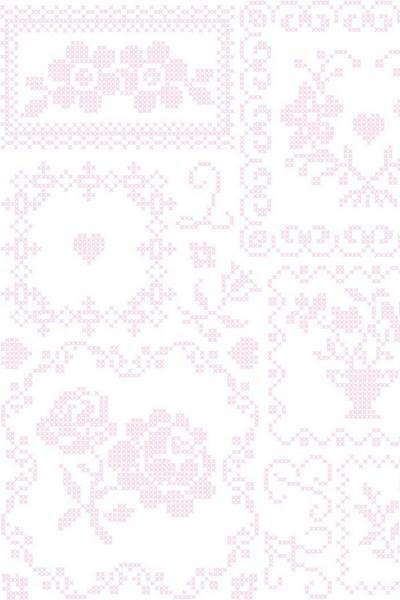 386000 cross stitch roze wit eijffinger behang smartpaper kruissteek
