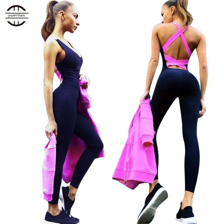 Yel Hot Sexy Girls Backless Playsuit Fitness Tights Jumpsuits Costume Yoga Sport Suit Gym Tracksuit For Women One Piece Bodysuit on Aliexpress.com | Alibaba Group