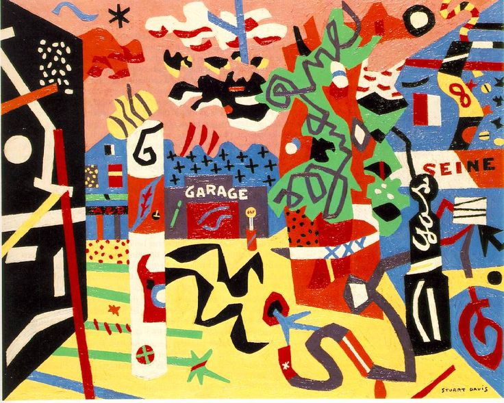 Stuart Davis -Report from Rockport   1940 | Oil on canvas, 24 x 30 in; Collection Mr. and Mrs. Milton Lowenthal, New York