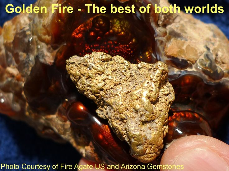 A wonderful 1+ ounce Alaskan Gold Nugget nestled on top of an Arizona Fire Agate gemstone carving. #gold #gemstone #fireagate