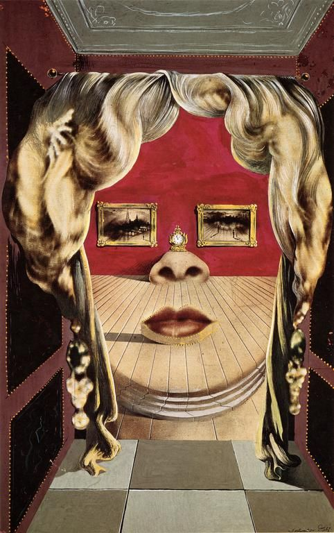 The Face of Mae West Which May Be Used as an Apartment - Dali, 1934-35