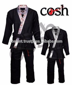 COSH International High Quality 100% Cotton BJJ Brazilian Jiu Jitsu Gi Kimonos ,Uniforms Suits Supplier CI- BJJ-7943-F