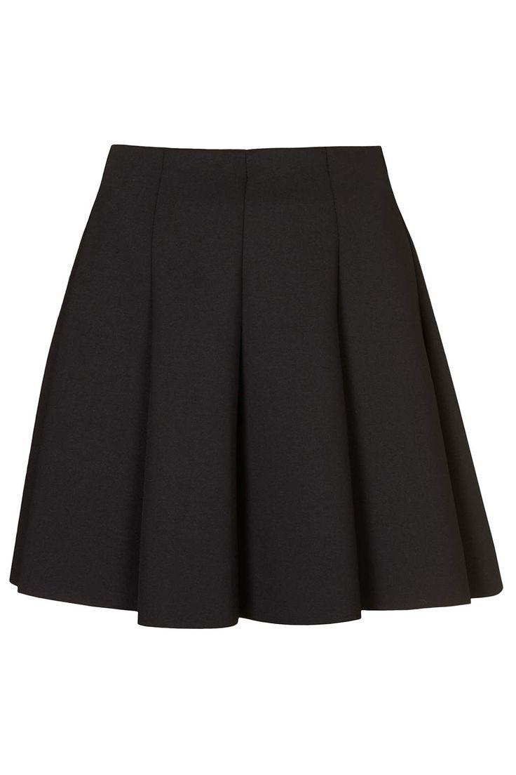 Black Scuba Flippy Skirt - Topshop | $48
