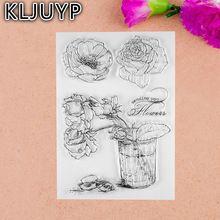1 sheet DIY Rose Design Transparent Clear Rubber Stamp Seal Paper Craft Scrapbooking Decoration(China (Mainland))