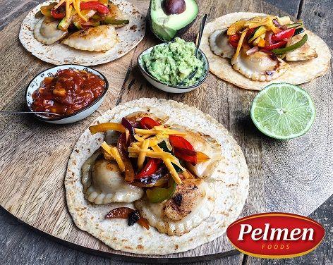 Perogy Fajita. Recipe: http://pelmen.com/recipe?id=150#.WRX8AeErKUk