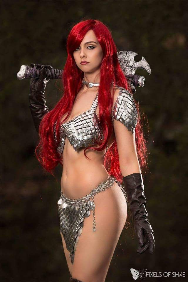 Cosplayer: Project Alice Cosplay. Country: Australia. Cosplay: Red Sonja from Marvel Comics. Photo by: Pixels of Shae. https://m.facebook.com/projectalicecosplay/ http://hottestcosplaygirls.tumblr.com/