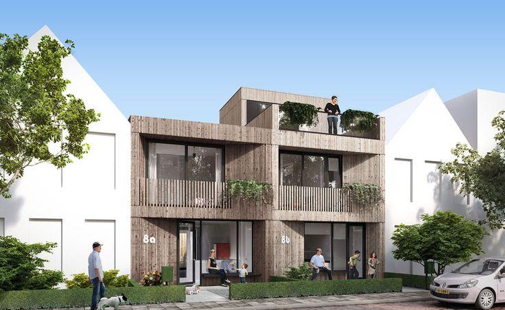 """""""loggia house S"""" com fachada de madeira projetada por 8A Architecten, Roterdã   – arqubator"""