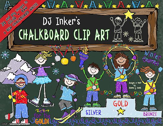 Are you ready for the Olympics?  DJ Inkers is! Check-out our latest creation... Winter 'Chalkboard Olympics!'