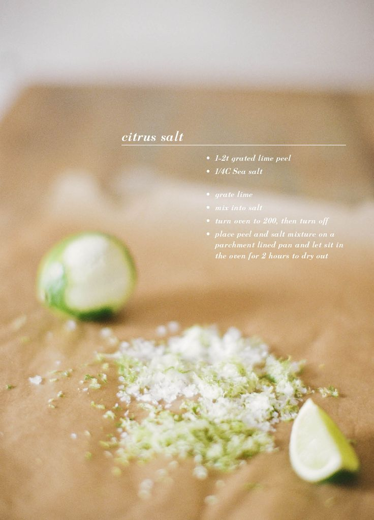 Citrus salt | SALT MORE OR LESS . It's EFFECT | Pinterest