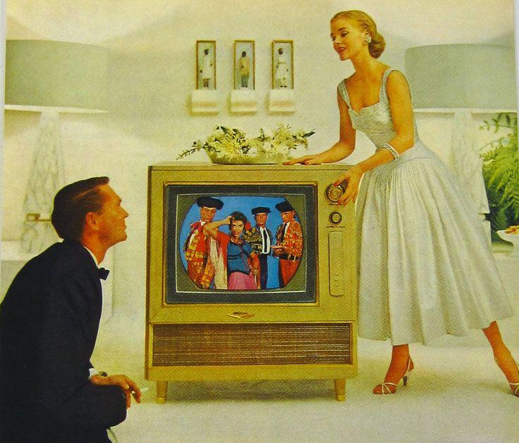 1950s advertising | Vintage Ad RCA Victor Color TV 1950s Mid by SkippiDiddlePaper