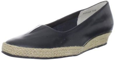 """Ros Hommerson Women's Envy Wedge Espadrille Ros Hommerson. $34.28. Heel measures approximately 1.00"""". es the perfect Spring casual. ity and comfort. Super soft kid skin leather uppers matched with effortless espadrille style mak. Manmade sole. leather. Ros Petal construction featured perfed uppers and smooth linings for breathabil. Platform measures approximately 0.75"""" . Women's Ros Hommerson, Envy low heel leather espadrilles"""