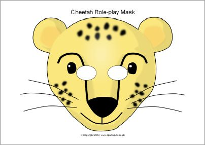 This Website Has Tons Of Free Printable Masks Cheetah Role Play Sb2139 Sparklebox Ideas 4 School Mask For Kids Animal