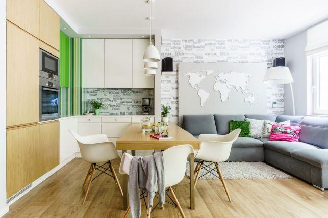 Decor inspirat de natura intr-un apartament de 3 camere - imaginea 1