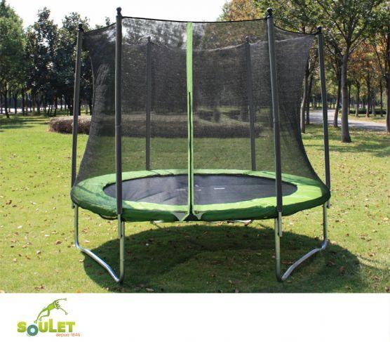 trampoline soulet de 2 44 m avec filet antichute fix. Black Bedroom Furniture Sets. Home Design Ideas
