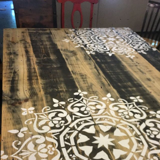 ... Stencil Was Perfect, And We Were Very Pleased With The Ease Of Use,  Cleaning, And Re Use. Thank You For Helping Us Make Our Homemade Table  Fabulous.