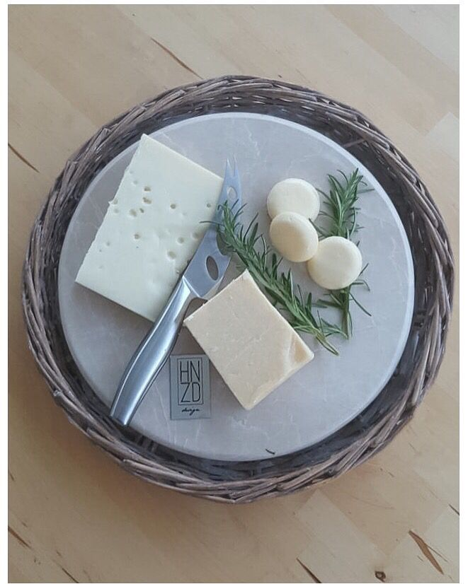 Mermer sunumlar Peynir tabakları