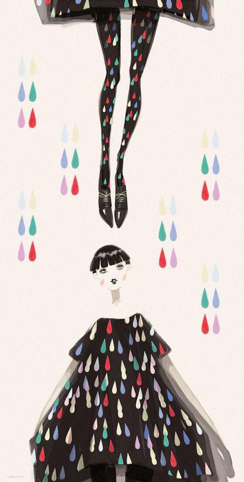La ilustradora de moda con sede en Londres Velwyn Yossy, se inspiró en las últimas tendencias y pasarelas de moda presentadas en Nueva York, Tokio, Milán, París y Londres para crear esta delicada serie de ilustraciones en acuarela.