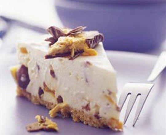 Choc-Honeycomb Cheesecake