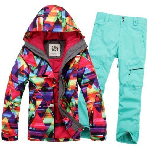 2013 New Women Warm Ski Suit Jacket Coat Pants Snowboard Clothing XS L | eBay - 285