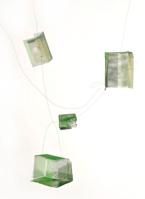 Heidemarie Herb Necklace: Untitled, 2013 Brass, melted industrial colours…