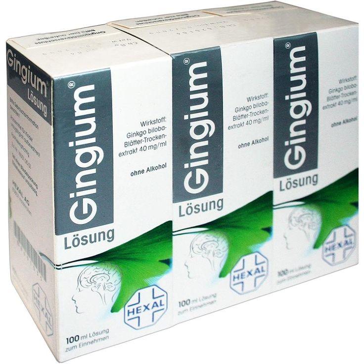 GINGIUM Lösung:   Packungsinhalt: 3X100 ml Flüssigkeit zum Einnehmen PZN: 08601035 Hersteller: Hexal AG Preis: 46,69 EUR inkl. 19 % MwSt.…