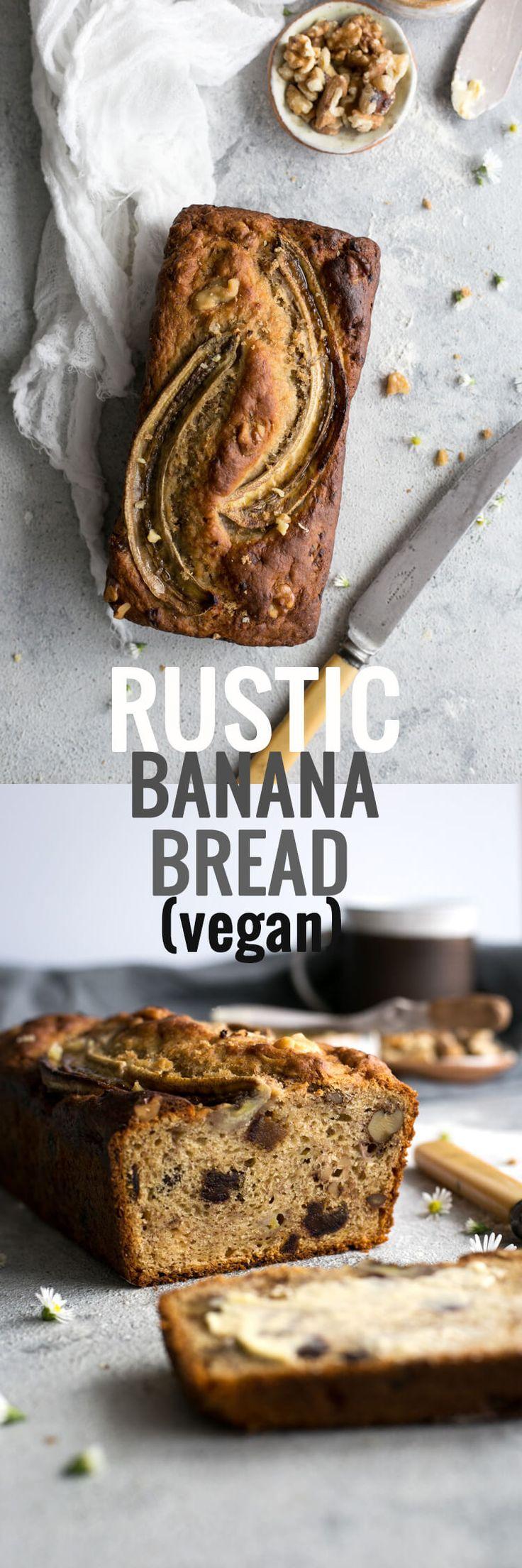 Köstliches, rustikales Bananen-Brot-Rezept, 100% Vegan!  Aufrechtzuerhalten  Über @ annabanana.co