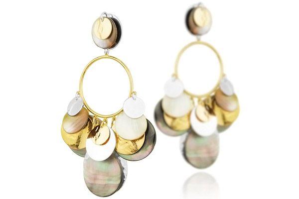 Boucles d'oreilles clips Mermaid plaquées or et argent Reminiscence