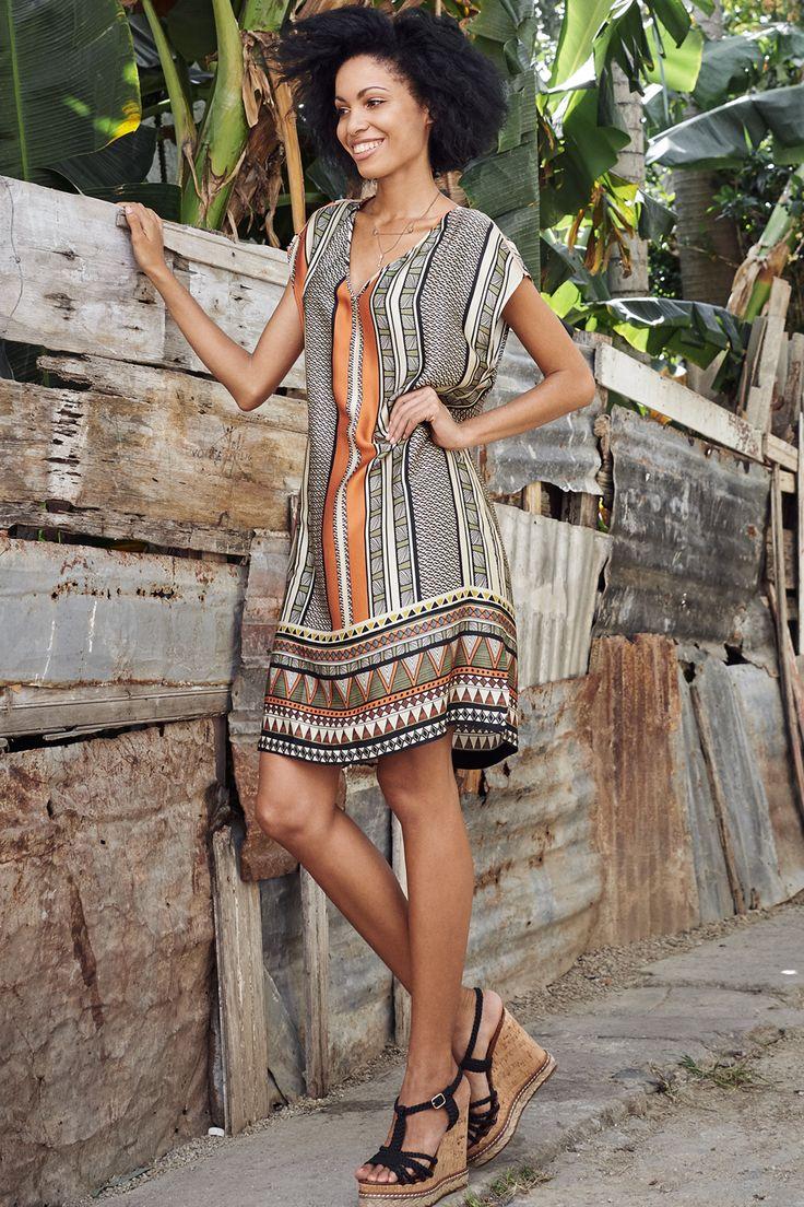 jurk met etnische print