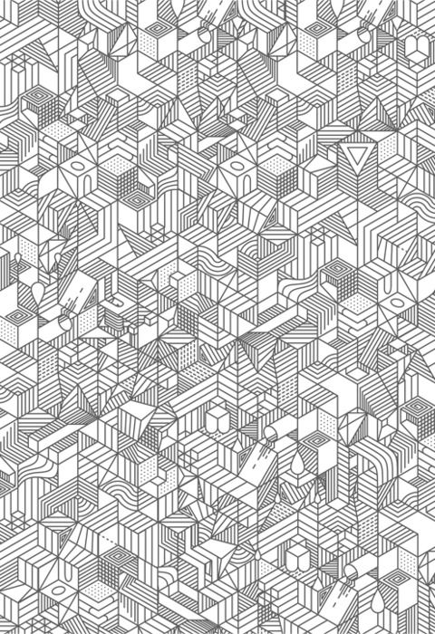 Graphic geometric pattern in black and white. Lovely!