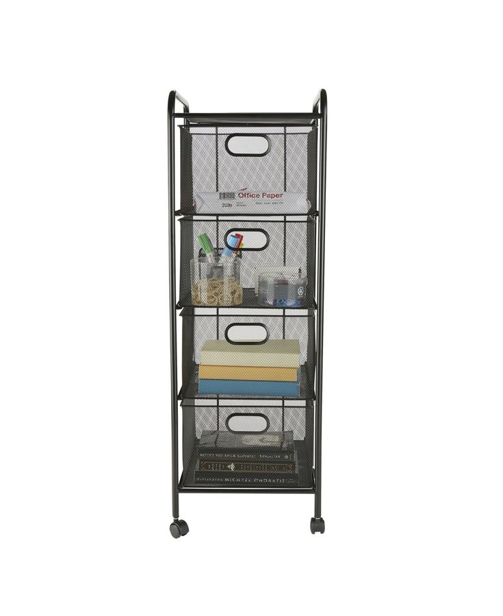 Mind Reader 4 Drawer Heavy Duty Multi-Purpose Cart