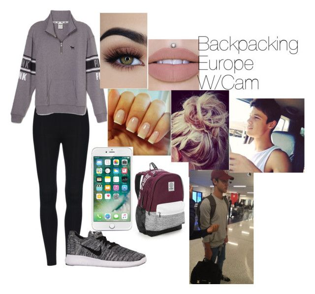"""""""Backpacking Europe W/Cam"""" by gabijordan on Polyvore featuring Victoria's Secret and NIKE"""